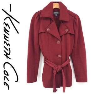 💕SALE💕 Kenneth Cole Red Peacoat